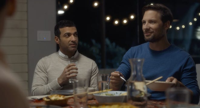 "Haaz Sleiman and Michael Cassidy in a scene from ""Breaking Fast,"" a movie by Dearborn's Mike Mosallam."