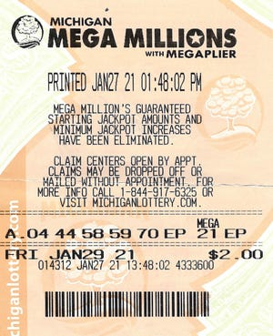 Seventy-three-year-old Gerald Carrig of Irons purchased a Mega Millions tickets for the Jan. 29 drawing that matched the five white balls drawn — 04-44-58-59-70.
