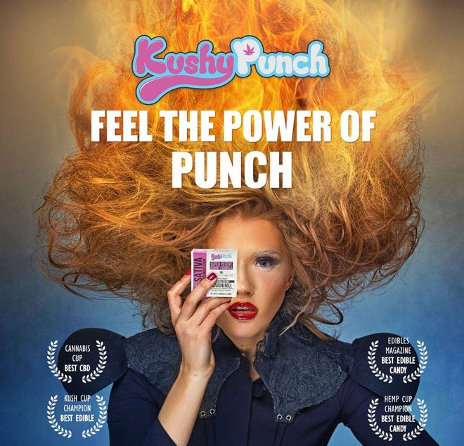 A promotional image California-based Kushy Punch posted to its Facebook page in August 2017.