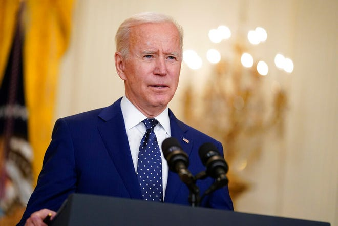 In this April 15, 2021, file photo, President Joe Biden speaks in the East Room of the White House in Washington.