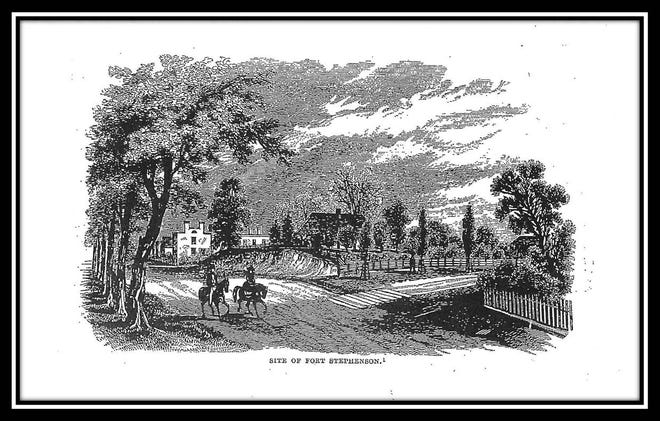 A drawing of Fort Stephenson location.