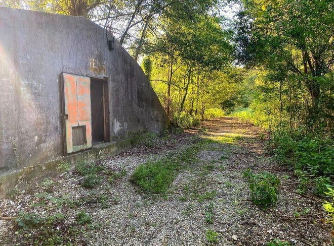 A World War II-era ammunition depot on the Woodlands Trail outside of Belle Chasse, LA