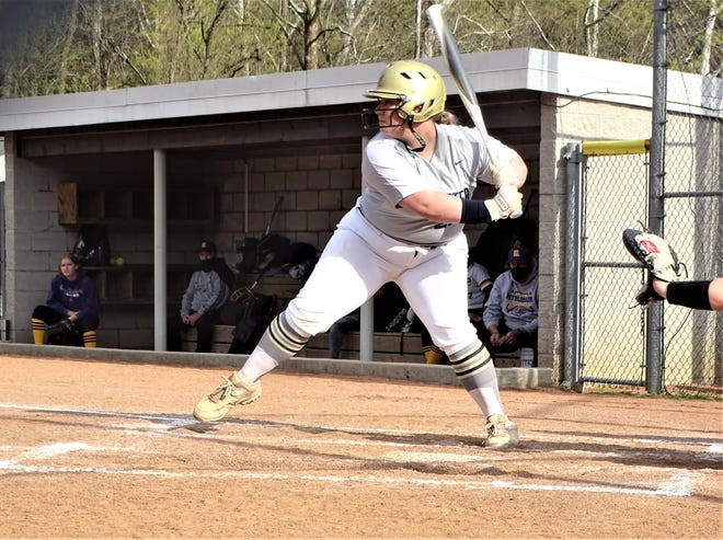Lancaster senior Emma Burke went 4-for-4, including two home runs and had six RBI to help lead the Lady Gales to an 18-2 win over Reynoldsburg on Tuesday.