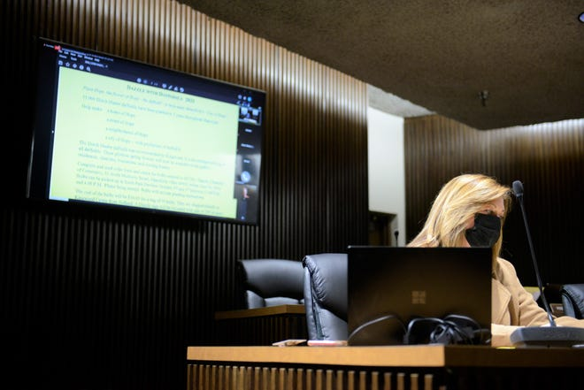Mansfield City Council held a hybrid meeting Tuesday, marking the first time a majority of council members gathered in the city municipal building since March of last year.