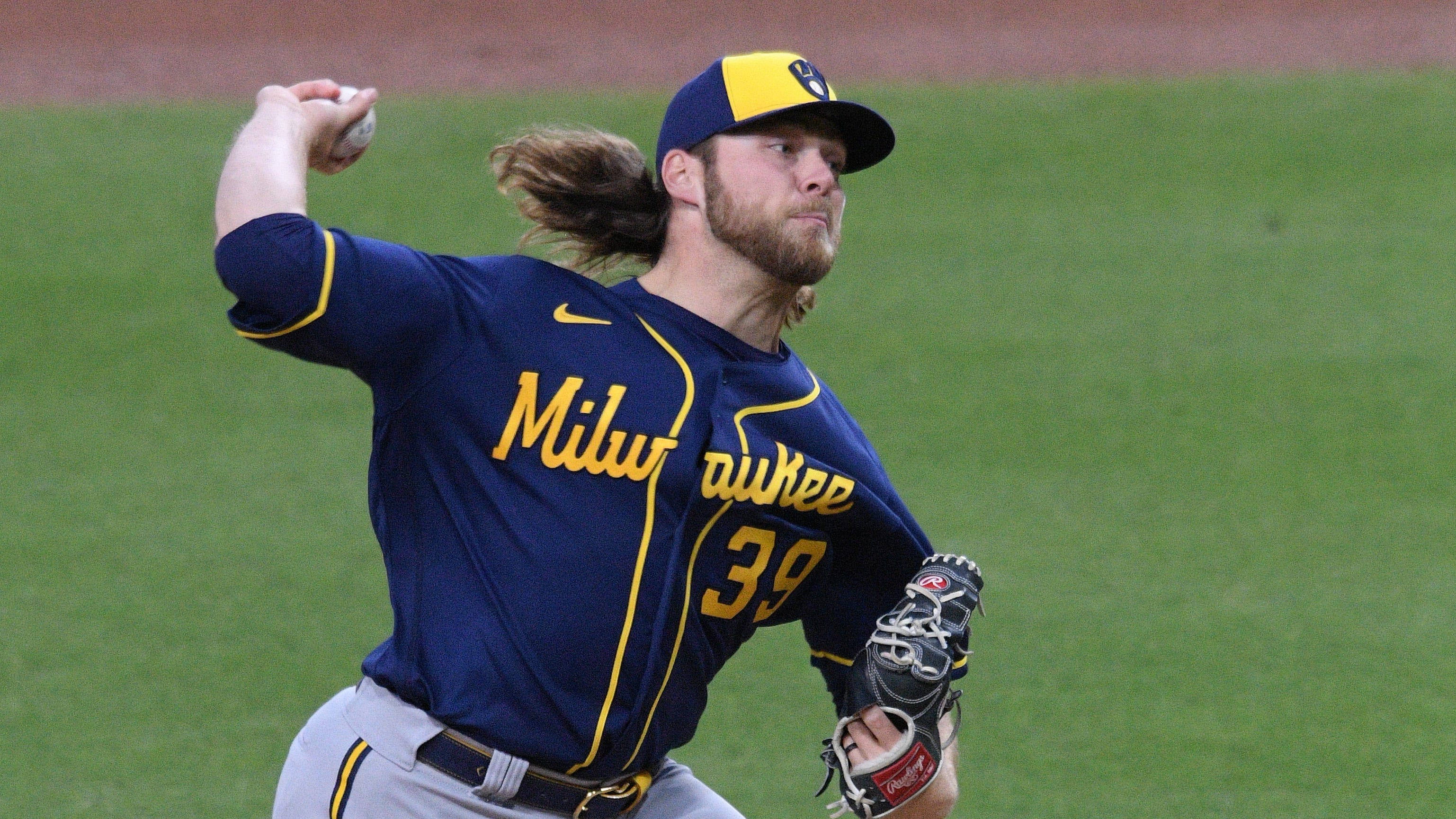 Brewers starter Corbin Burnes sets MLB record for most strikeouts without a walk to start a season
