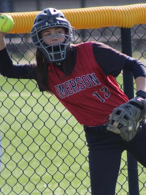 Emerson senior Amanda Sellemi is the Cavos' leader on and off the softball field.