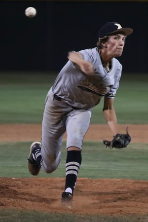 Xavier's Seth Mattox struck out 14 batters Friday night, but the Saints fell to Woodcrest Christian 4-3 in the CIF-SS Division 4 baseball playoffs.