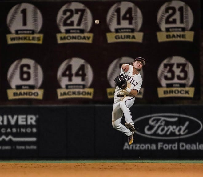 Arizona State baseball used stellar defense by Sean McLain and others and a late home run by Allbry Major to down Grand Canyon 13-10 on Tuesday night.