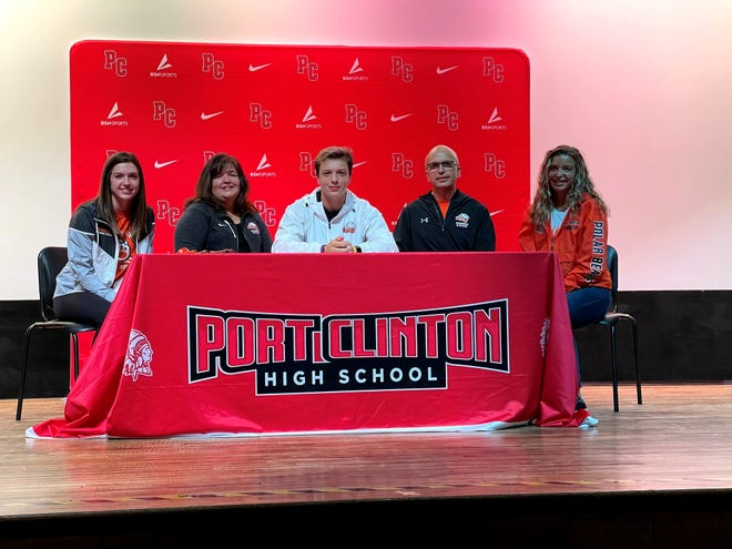 Port Clinton's Noah Shaw continues his golf and swim careers at Ohio Northern. He's joined by sister Lauren, mom Karen, dad Paul and sister Emily Shaw.