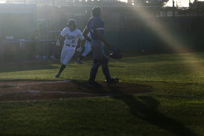 Montwood's Nathan Benitez during the game against Americas in District 1-6A baseball at Montwood High School in El Paso.