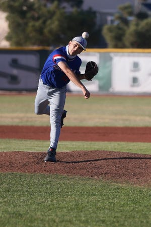 Americas' Stephen Sepulveda during the game against Montwood in District 1-6A baseball at Montwood High School in El Paso.
