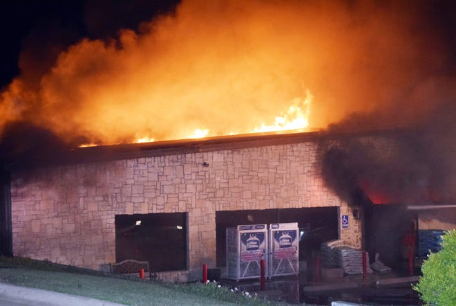 Fire destroyed the Ace Hardware business in Bowie Monday.