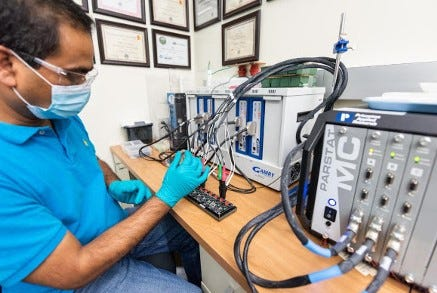 Scientists at the Kansas Polymer Research Center have invented a new kind of battery that is more eco-friendly.