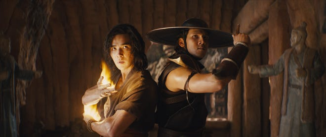 "Liu Kang (Ludi Lin, left) and Kung Lao (Max Huang) are ready for a fight as champions of Earth in ""Mortal Kombat."""