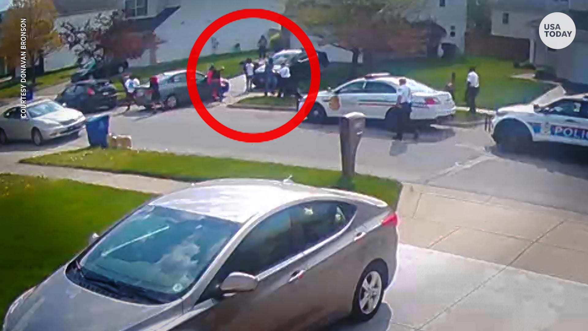Security footage shows police shoot and kill Black teenager after stabbing attempt