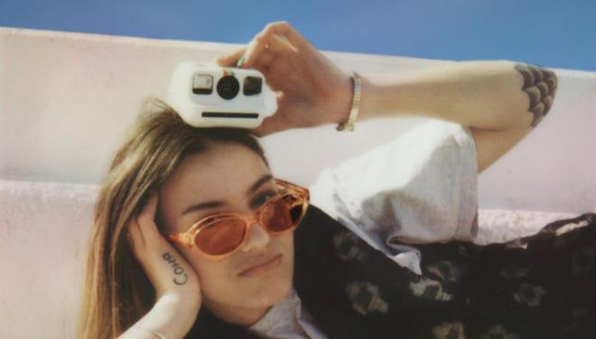 The Polaroid Go camera.