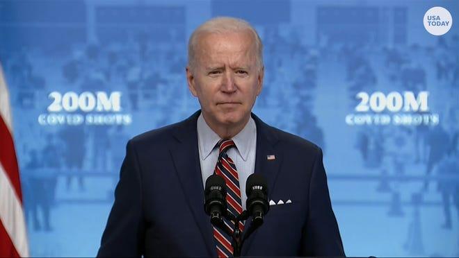 President Joe Biden announced his administration met the goal of administering 200 million shots in 100 days.