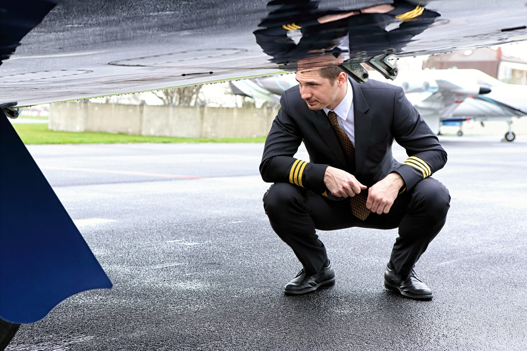 How often do airline pilots find problems during preflight walk-arounds?