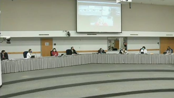Anti-Asian comments directed toward Trustee Jun Xiao were mentioned this week by the Round Rock school board, shown here in a file photo. 'I was horrified by what I read,' Trustee Cory Vessa said.
