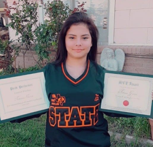 Caprock junior wrestler Tatiana Garcia will compete in the state tournament on Friday in Cypress, TX.