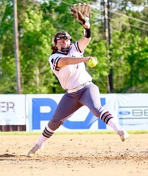 Merryville pitcher Riley Dyson fired a no-hitter and struck out 13 in leading the Lady Panthers to a second-round playoff win on Tuesday, 13-0.