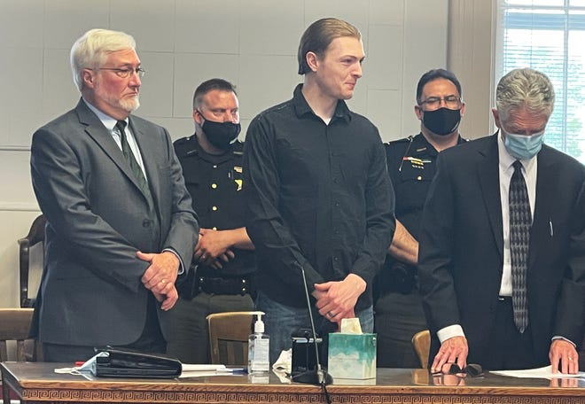 """Edward """"Jake"""" Wagner during a hearing on Thursday, Apr. 22, 2021 at the Pike County Courthouse in Waverly, Ohio"""
