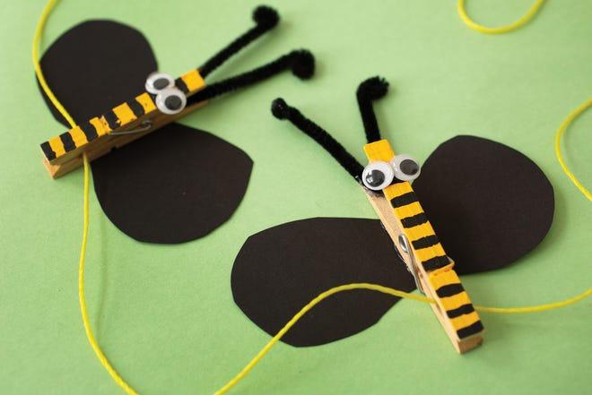 Transform a few clothespins into a creative art display.