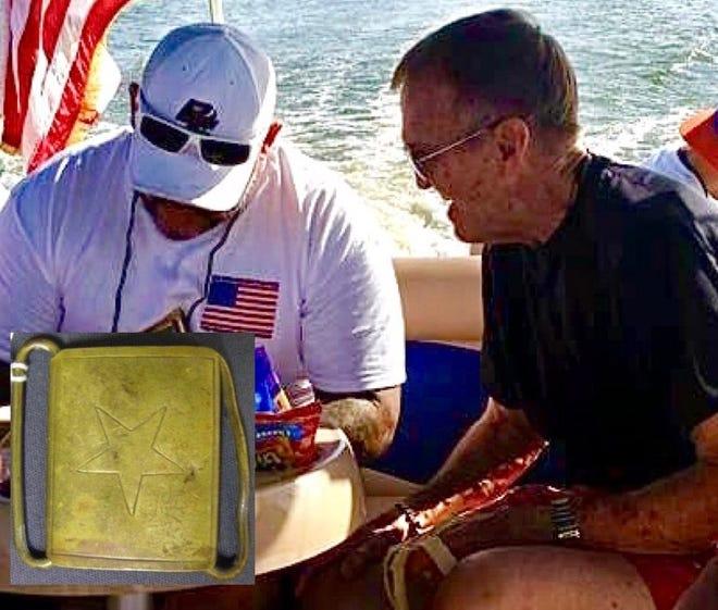 It was a poignant outing aboard a Mount Dora Patriot Cruise for war-wounded vets Keith Totten and the late Paul  Guthrie.