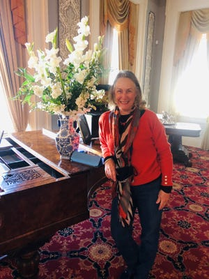 Cheri Bradley of Indiana, a great great granddaughter of Nathaniel Cheairs, builder of Rippavilla, visits the music parlor during a recent ancestral reunion, held by Rippavilla Inc. before the termination of its contract with the city. Her brother from Texas also attended the event in March, seeing the property for the first time.
