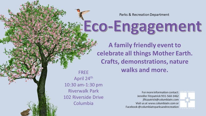 Columbia Parks & Recreation will host Eco Engagement at Riverwalk Park in celebration of Earth Day 2021.