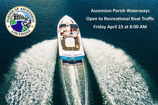 Ascension Parish set to reopen waterways