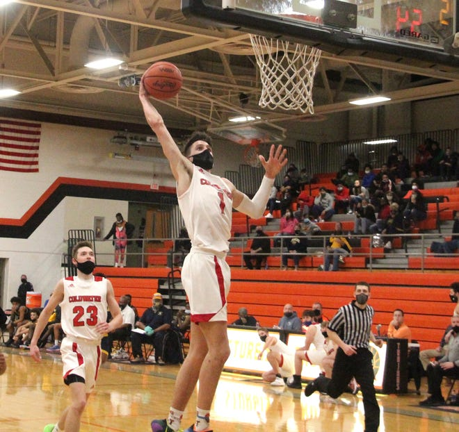 Coldwater junior Ethan Crabtree was named to the Interstate 8 First Team All Conference Boys Basketball squad this season