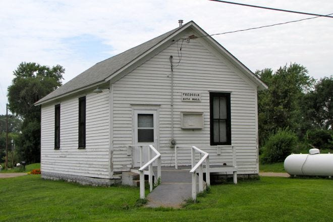 Fredonia City Hall is shown. Without a city leader, the Louisa County town of about 240 residents will be faced with either unincorporating or being absorbed by a neighboring city.