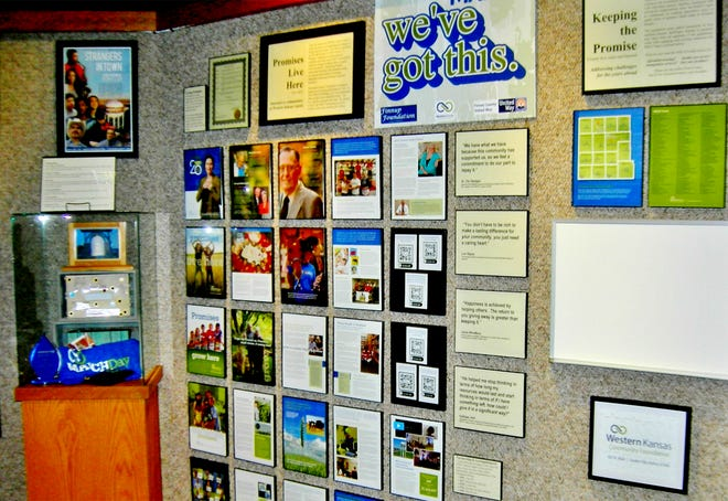 The latest Front Door exhibit at the Finney County Historical Museum features the history of the Western Kansas Community Foundation.