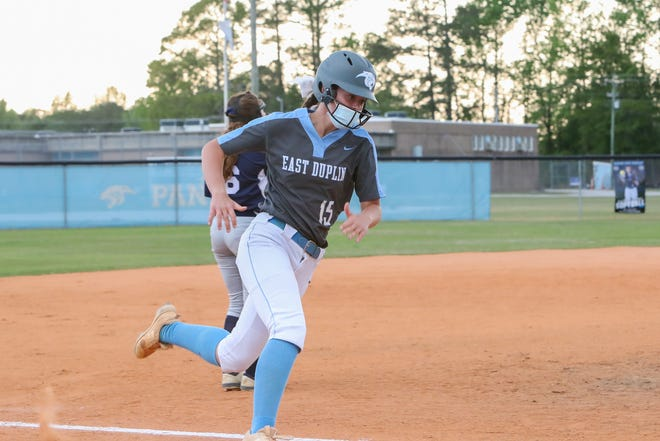 East Duplin's Summer Mercer is hitting .641 to help the Panthers be in a position to win a conference title