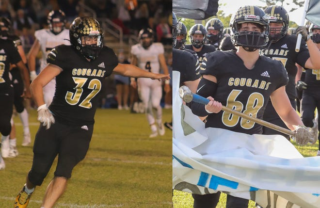 Croatan football players, Dakota Gray, left, and Landon Gray, have helped the Cougars advance to the second round of the NCHSAA 2-AA playoffs.