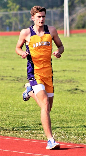 Anacoco's Joanna Mawae and Brayden Prichard each won three events on Wednesday during the District 5-B Championships held at Leesville High School.