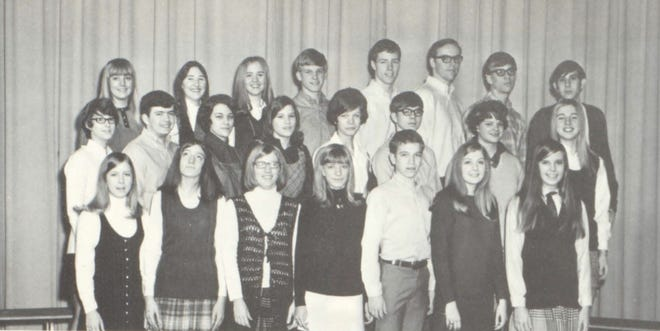 Pictures of the Past comes from the 1970 Lincoln Community High School yearbook.  The photo shows members of the student council who are selected annually by popular vote of the student body. Members act as the intermediaries between students and the administration. Members in row one: J. Broughton, K. Wright, M. Hoagland, P. Luckhart, A. Houser, N. Heins and J. Harris. Row two: J. Sparhakel, R. Lillard, L. Parmenter, vice president, M. Edwards, F. Fricke, T. Thornton, M. Warner and A. Tebrugge. Row three: J. Harris, M. Bennis, A. Martin, treasurer, G. Appel, B. McElhaney, B. Andrews, president, T. Kinney and M. Marsh.