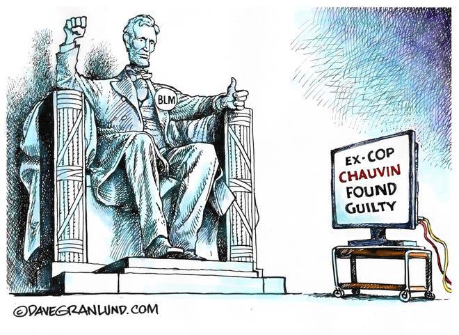 Dave Granlund cartoon on Chauvin verdict