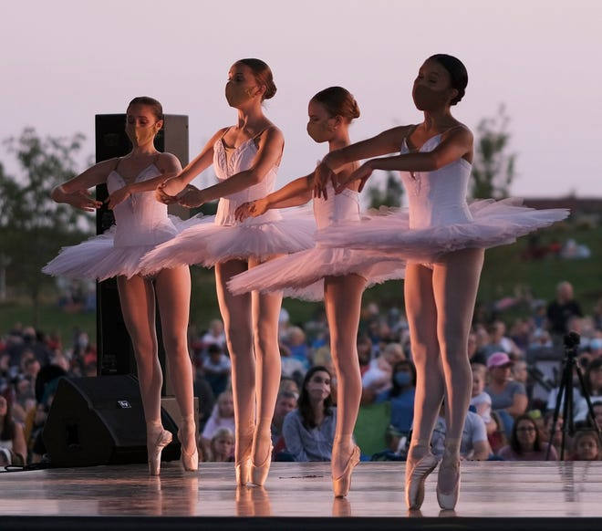 "OKC Ballet performs ""Ballet Under the Stars"" on Oct. 9 at Scissortail Park on the Love's Travel Stops Stage in Oklahoma City."