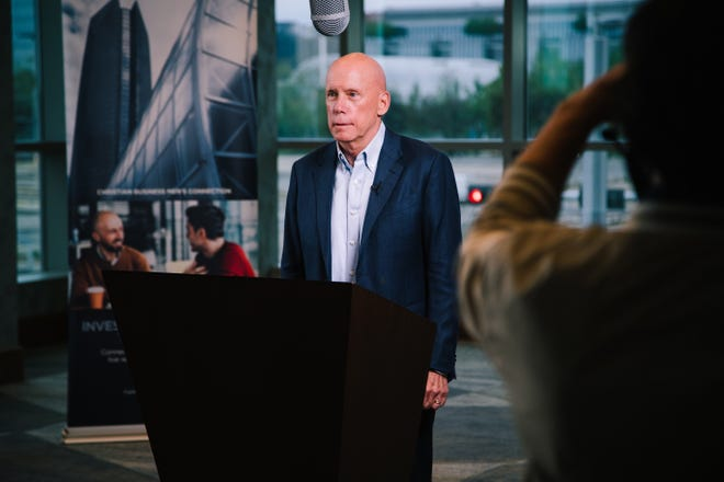 Frank Harrison III, chairman and chief executive officer of Coca-Cola Consolidated, shares his faith testimony at the 2021 Metro Prayer Breakfast, a virtual event taped at the Omni Hotel in downtown Oklahoma City.