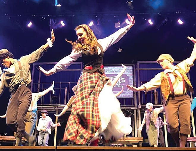 Kahrie Stegman of Pratt (middle) headlines a rave-reviewed muscial show 'Newsies' that will be live-streamed this weekend from Barclay College.