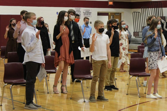 Rolla Public Schools recently held an induction ceremony for the 2021 National Junior Honors Society at Rolla Junior High.