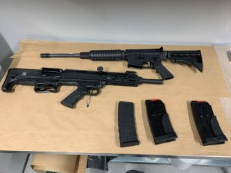 This rifle and shotgun were among seven firearms seized in Kent during a crime interdiction operation on April 15.
