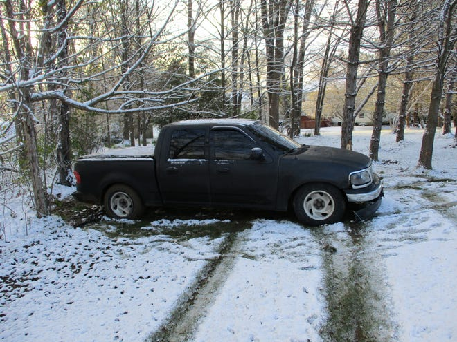 This pickup truck slid off the road in the area of Route 14 and Summers Road in Streetsboro, one of several crashes in the city involving icy roads Thursday morning, one of which shut down Interstate 480 westbound at the Ohio Turnpike for a short time. No serious injuries were reported.