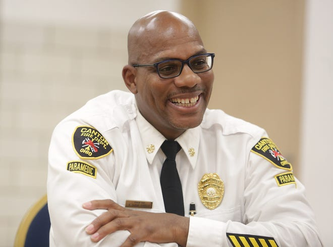 Kwameshallahu Akbar Bennett will be sworn in Monday as Canton's first Black fire chief. He said his goal was never to be the first, but he doesn't want to be the last Black chief.