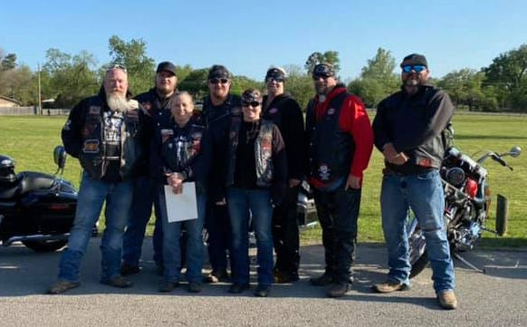 Members of Bikers Against Child Abuse Cross Timbers Chapter were on hand for Tuesday's Stop the Silence Rally on Tuesday held in conjunction with National Crime Victims' Rights Week.