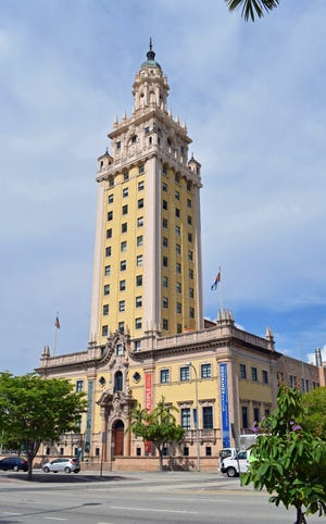Freedom Tower, now a museum at Miami-Dade College, was built in 1925 as the headquarters of The Miami News. PHOTO / HAROLD BUBIL / 2018