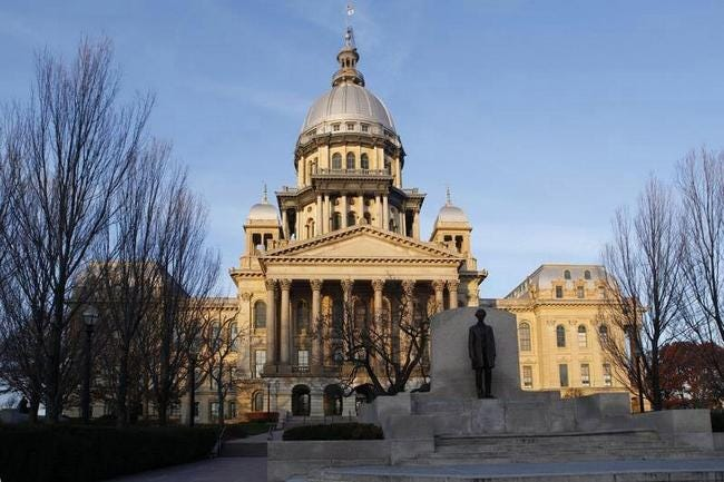 The Illinois State Capitol building.