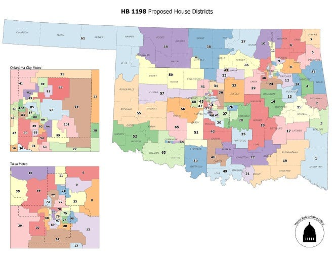 Proposed House Districts.